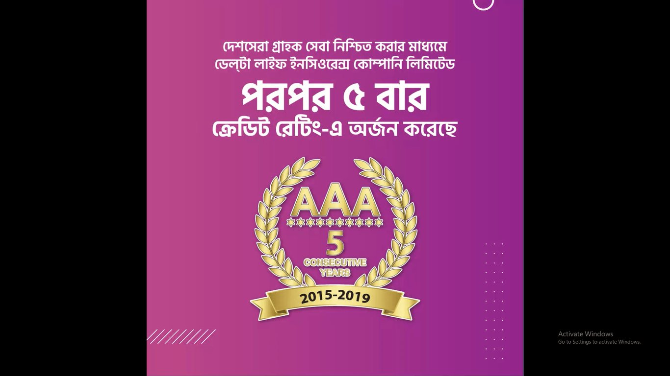 Credit Rating AAA - consecutive 5 years